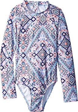 Seafolly Kids - Moonchild Long Sleeve Surf Tank One-Piece (Little Kids/Big Kids)