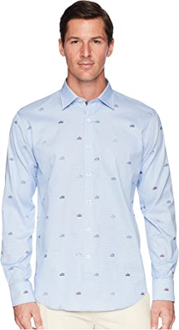 Shaped Fit Long Sleeve Woven Shirt
