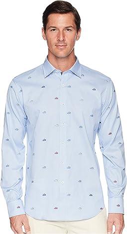 BUGATCHI - Shaped Fit Long Sleeve Woven Shirt