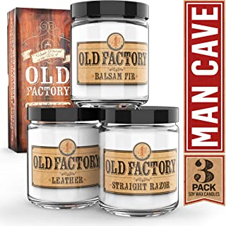 Old Factory Scented Candles for Men – Man Cave – Decorative Aromatherapy..