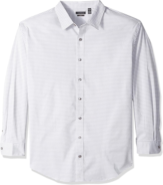 Van Heusen Men's Big and Tall Flex Long Sleeve Button Down Stretch Check Shirt