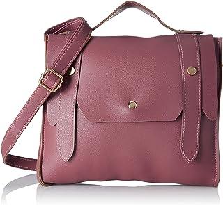 Envias Women's Leatherette Sling Bag (Purple)