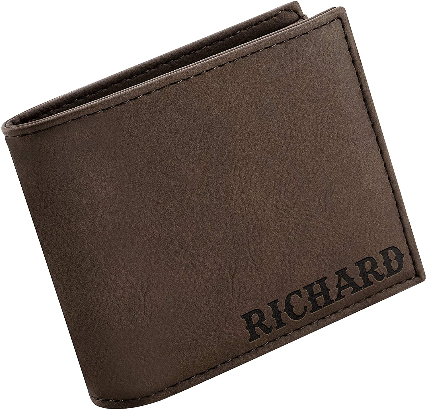 Personalized Wallets for Men, 6 Colors & 19 Font Options, Custom Engraved Leather Wallet - Gifts for Husband - Father's Day Gifts, Personalized Gifts for Men