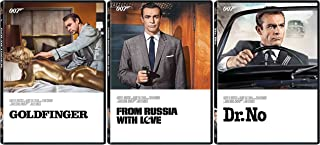 Sean Connery 3 Film Collection 1/2/3 Dr. No - From Russia With Love & Goldfinger 007 DVD First three films Action Movie Car Set