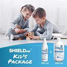 Kids Package of High Level Disinfectant & Sanitizer 100% Natural [100ML+250ML] - SHIELDme