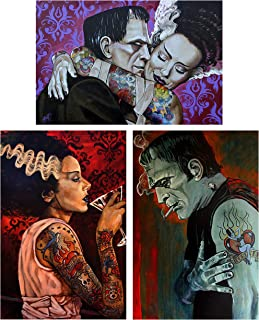 Undying Love, Bride Cocktail, Broken Hearted by Mike Monster 3 Wall Art Prints