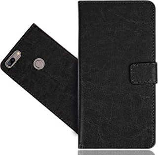 Elephone C1 Max Case, FoneExpert Genuine Leather Kickstand Flip Wallet Bag Case Cover For Elephone C1 Max