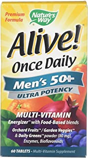 Alive! Once Daily Men's 50+ Ultra - 60 Tablets by Nature's Way