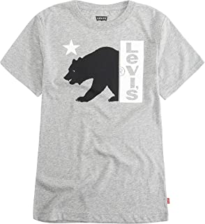 Levi's Boys' Toddler Graphic T-Shirt, Grey Heather Bear Logo, 2T