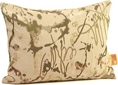 Rennie & Rose Drip Painting Fall Desert Throw Pillow, 12-Inch by 16-Inch
