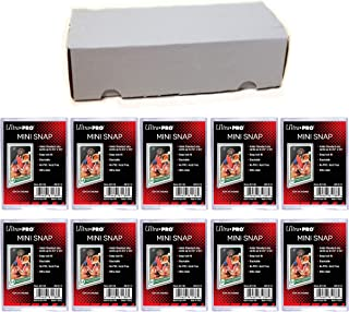 Ultra Pro Mini Snap Card Holder #81136 x10 + 550 Count Storage Box