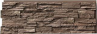 NextStone Polyurethane Faux Stone Panel - Country Ledgestone - Himalayan Brown (4 Panels per Box)