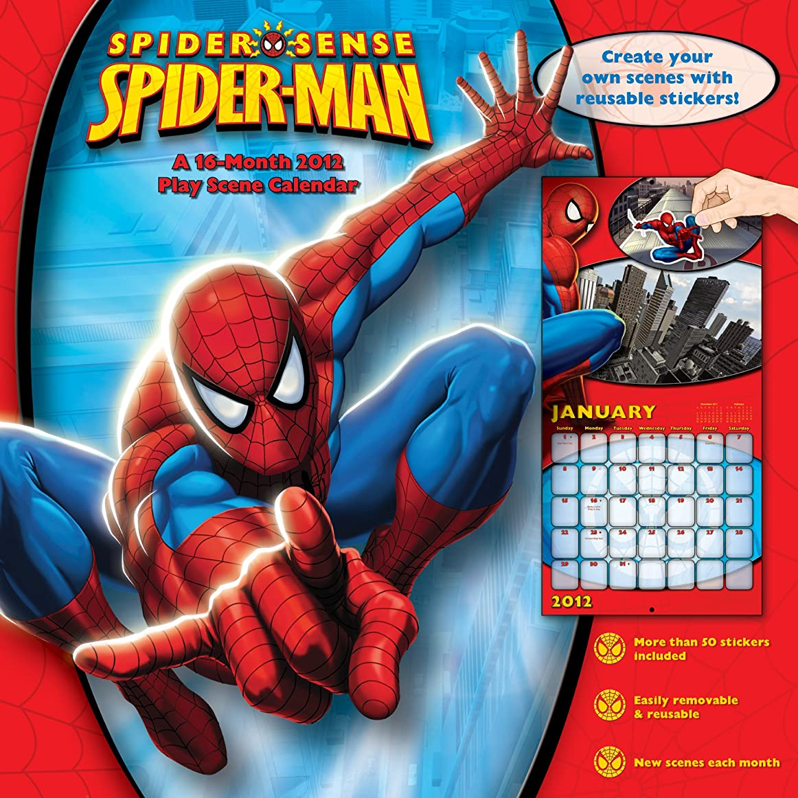 未知のバブル一Spiderman Comic 2012 Wall Calendar with Stickers