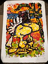 Tom Everhart Signed Original Lithograph AP 49/50 HITCHED Snoopy Peanuts Movie Charles Schulz COA