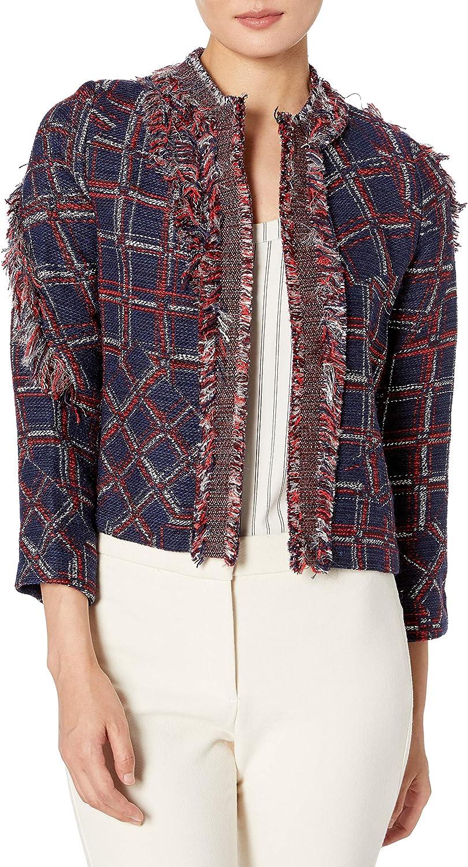 Cynthia Rowley Women's Fringe Tweed Jacket