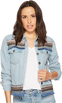 Jack by BB Dakota Jemi Denim with Novelty Ribbon Trim Jacket