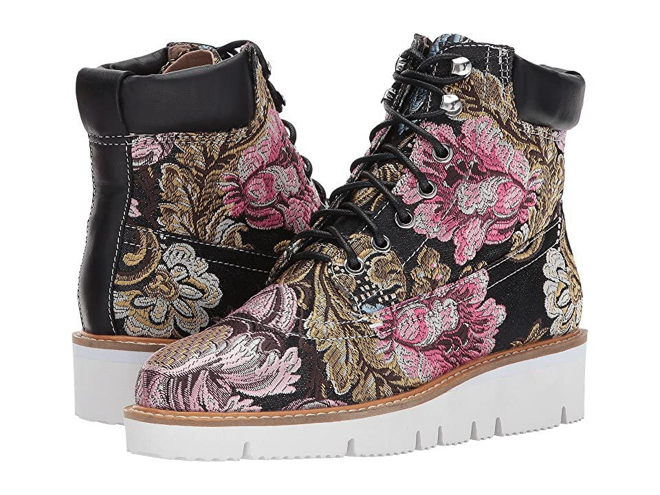 Shellys London Erin Hiker Boot (Black Floral) Women