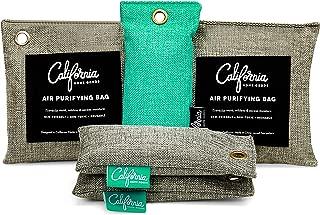 California Home Goods Bamboo Charcoal Air Purifying Bag (5 Pack) Bundle, Natural Air Fresheners & Odor Eliminator, Closet Freshener, Fridge Deodorizer, Shoe Odor Eliminator