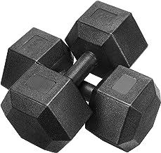 Yaheetech 2 stuks korte halters, 10 kg, gietijzeren halters, hexagon halters voor aerobic, gymnastiek en fitness