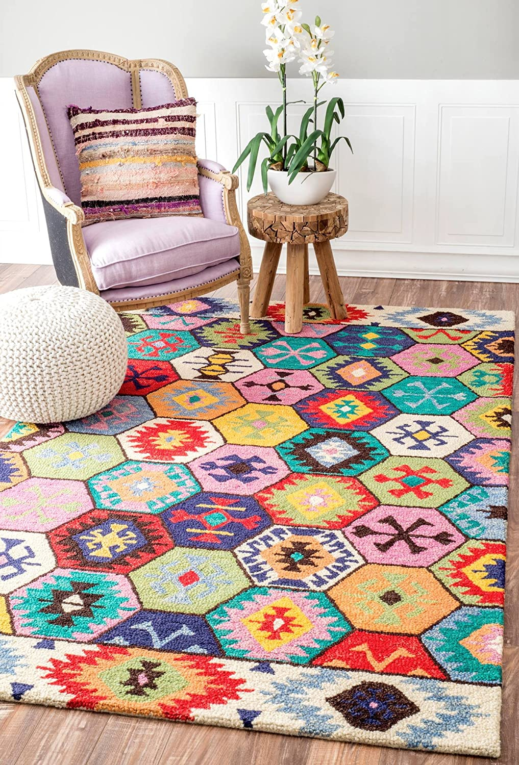 nuLOOM Giuseppina Hand Tufted Wool Area x Challenge the lowest price of famous Japan ☆ Rug 4' Multi 6'