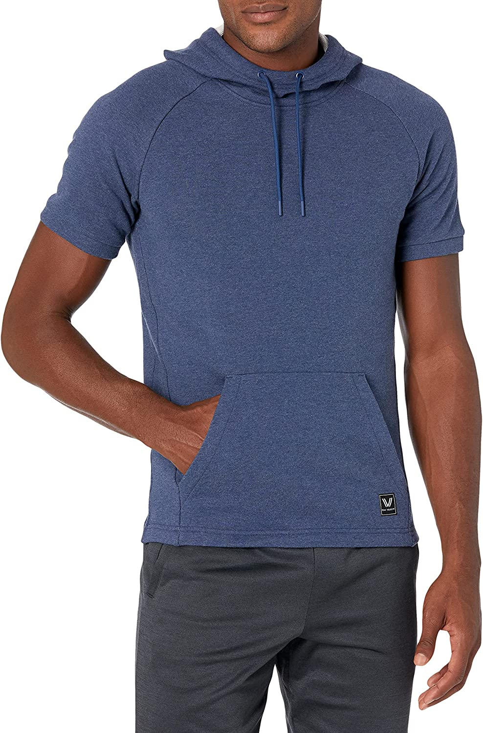 Amazon Brand - Peak Velocity Men's Short Courier shipping free Max 50% OFF French Sleeve Ath Terry