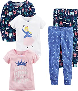 Carter's Baby-Girl 5-Piece Cotton Snug-fit Pajamas
