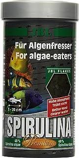JBL Spirulina 30001 Premium Complete Food for Algae Eating Aquarium Fish Flakes 250 ml