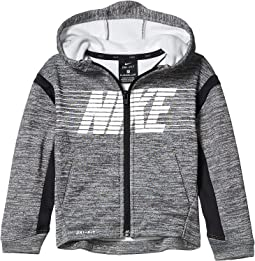 NIKE Air Black White Fleece Sweatshirt F//Z Hoodie Jacket NEW Youth Boys M L
