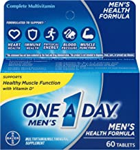 One A Day Men's Multivitamin, Supplement with Vitamins A, C, E, B1, B2, B6, B12, Calcium and Vitamin D, 60 count