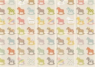 Parklon Folding Play Mat (78.7 x 55.1 x 0.4 inch) (Wooden Pony)
