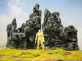 【Good in three directions】中スケール 岩山 セット figma ガンプラ アーツ ジオラマ ジオラマ シート 模型用 岩山 (全高約28㎝ 岩壁セット)