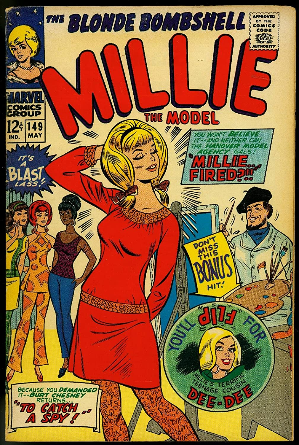 Amazon.com MILLIE THE MODEL 20 20 MARVEL PAPER DOLLS PIN UP ...