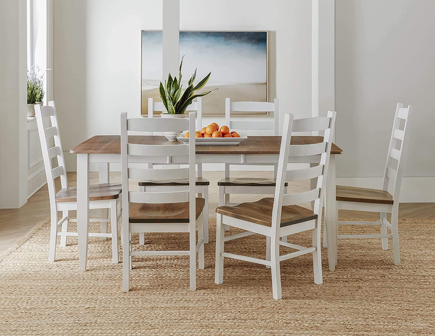 7 Piece Solid Wood Dining Room Sales for sale Set Kitchen Extendable wi Table 4 years warranty