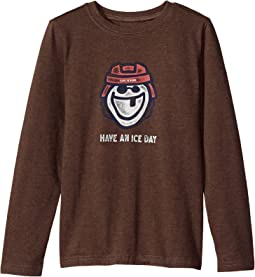 Life is Good Kids - Ice Day Hockey Long Sleeve Crusher Tee (Little Kids/Big Kids)