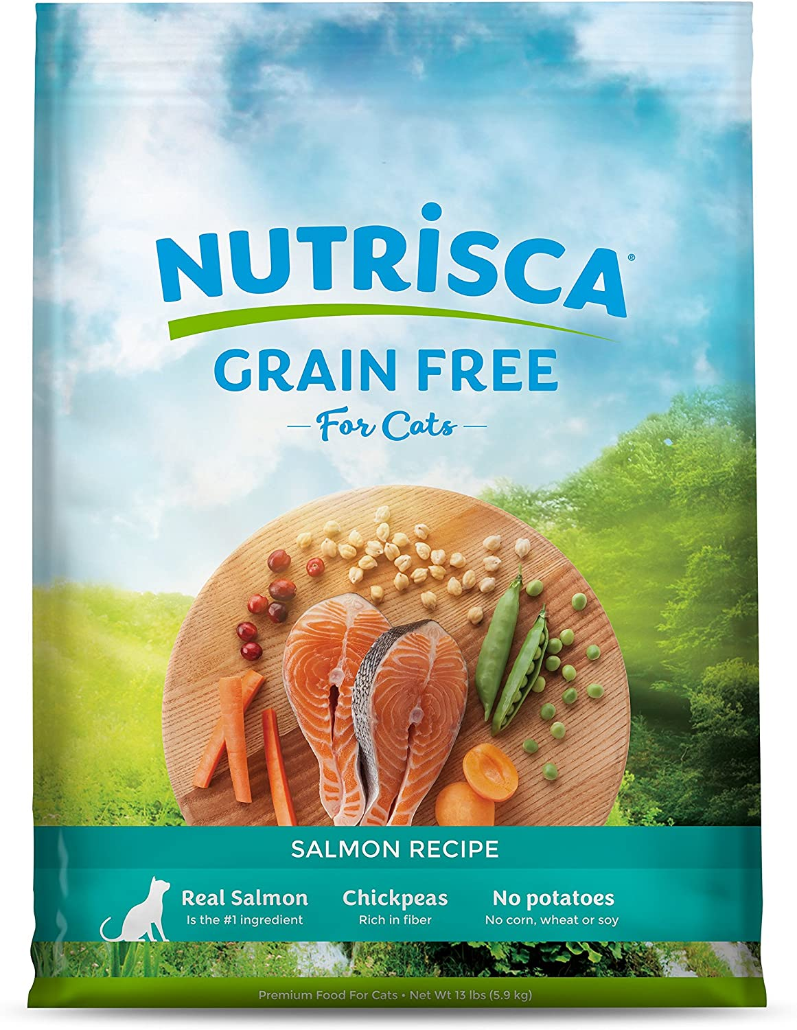 DOGSWELL 842043 Nutrisca Salmon Cat Food, 13Pound