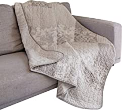"""SLPR Silver Linings Cotton Patchwork Quilted Throw - 50"""" x 60"""" 