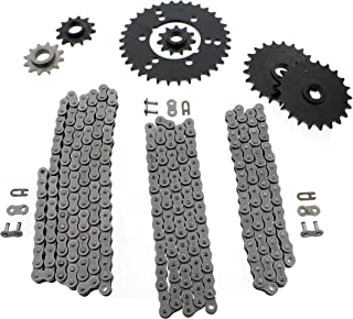 Polaris Trail Boss 350L 4x4 Non O Ring Chains & Complete Sprocket Set