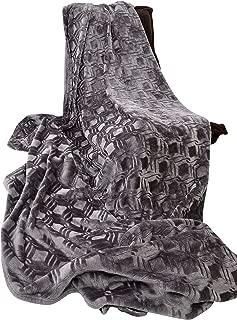 long rich HappyCare Textiles HCT BKT-001 Ultrasoft Diamond Pattern Embossed Micro Velvet Comforter and Blanket, 108