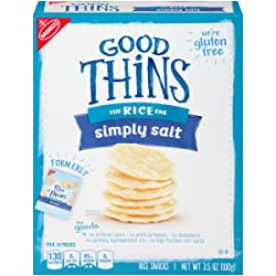 Good Thins Simply Salt Gluten Free Rice Snack Crackers, 3.5 Ounce Box