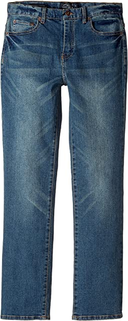 Lucky Brand Kids - Five-Pocket Classic Straight Stretch Denim Jeans in Yorba Linda (Big Kids)