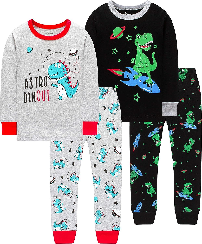 Pajamas for Boys Los Angeles Mall Girls Ranking TOP2 Kids Children Dark Dinosaurs Glow The in