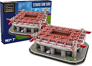 Nanostad San Siro Inter De Milan 3D Puzzle - Red/Grey