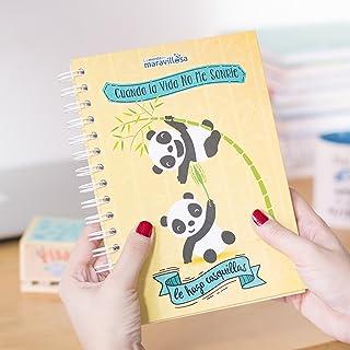 La Mente es Maravillosa - Cuaderno A5 (Cuando la vida no me sonríe le hago cosquillas) Regalo para amiga con dibujos (Diseño Ositos)