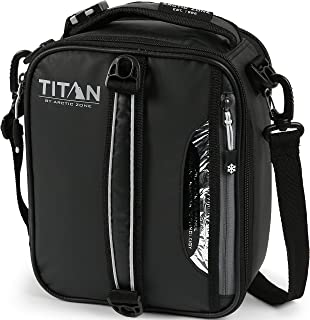 Arctic Zone 1920ILA18001 Titan High Performance Insulated Expandable Lunch Pack, Black, 8