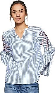 VERO MODA Women's Striped Regular Fit Top