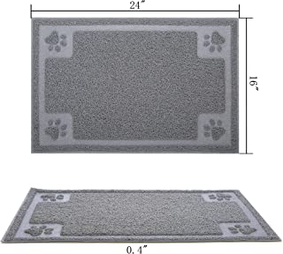 Gefryco Pet Dog Feeding Mats for Food and Water Bowl, Traps Litter from Box and Paws, 24