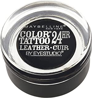 Maybelline New York Eyestudio ColorTattoo Metal 24HR Cream Gel Eyeshadow, Dramatic Black, 0.14 Ounce (1 Count)