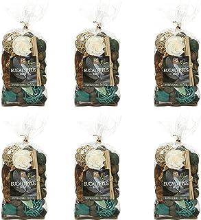Hosley Set of 6 Bags Eucalyptus Mint Chunky Potpourri 5 Ounce Each. Ideal for Party Favor Weddings spa Reiki Meditation Ba...