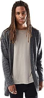 Young Men's Open Front Longline Sweatshirt Cardigan