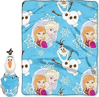 Disney Frozen Blizzard Boy Character Pillow and Fleece Throw Blanket Set, 40